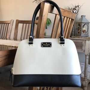 Kate Spade white and black purse